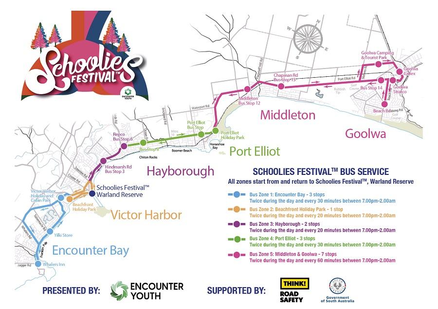 Schoolies Festival 2018 Map