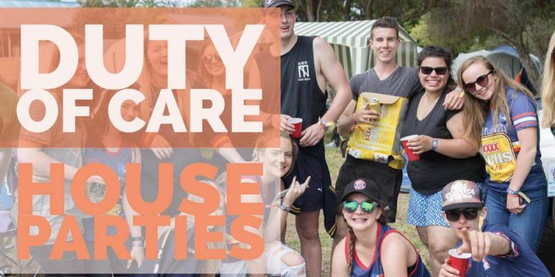Duty Of Care at House Parties Title