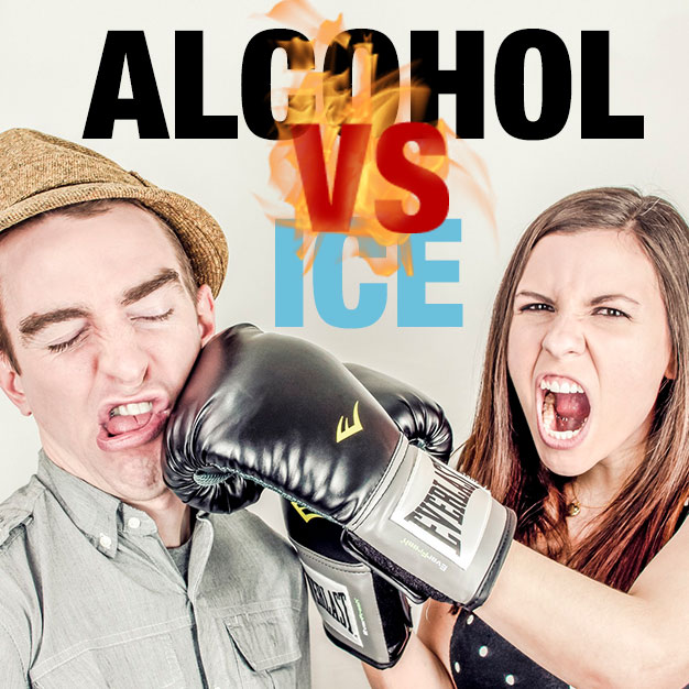 Alcohol vs Ice Harms