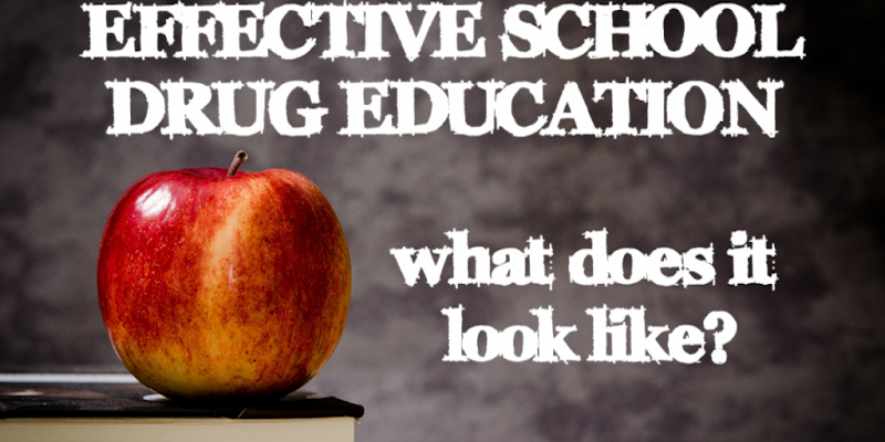 Effective school drug education feature image.