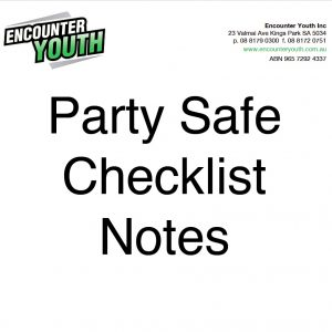 party safe checklist notes
