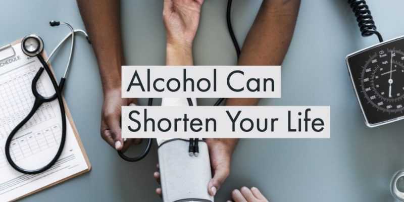 Title image saying alcohol can shorten your life