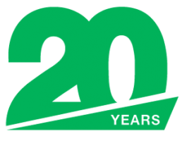 20 Years Logo, Green